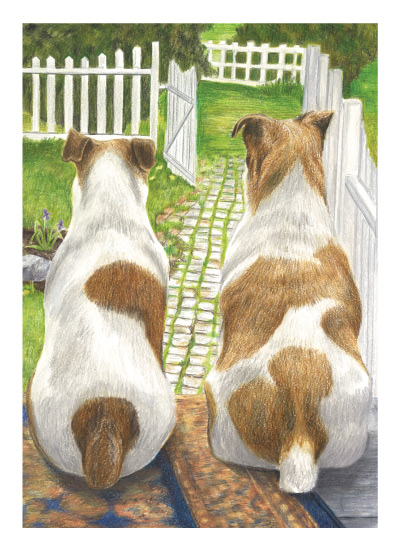 art prints - Man's Best Friend, Waiting by Amy Downs