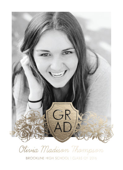 graduation announcements - Blooming Graduation by Elizabeth Atlas