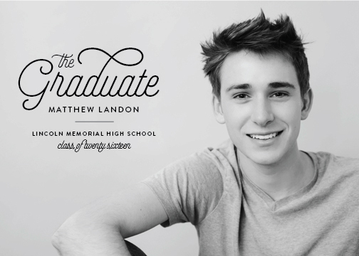 graduation announcements - Urbane Grad by Sarah Guse Brown