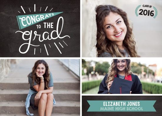 graduation announcements - Chalkboard Memories by wondErin wandErin