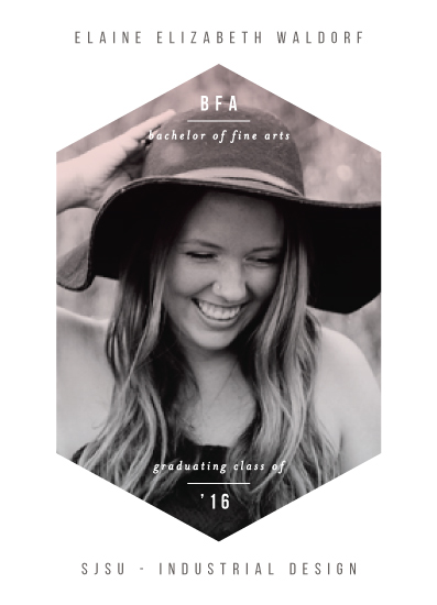graduation announcements - Sleek Shape by Simona Camp