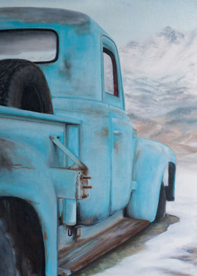 art prints - Blue Solitude by Laura Morris