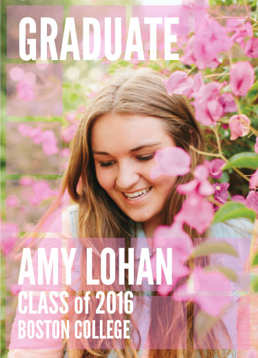 graduation announcements - Floral Glass by Laurie Beasley