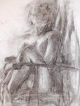 Young Woman in Chair by Kelsey Auger