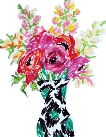 art prints - Ranunculus and Snapdragons in vase by Drihana Burger