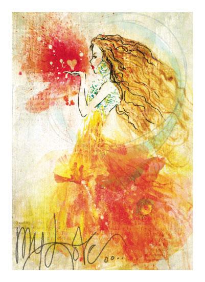art prints - Blow a Kiss by Rachel Kennison