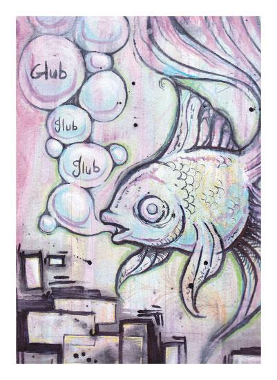 art prints - Glub Glub by Rachel Kennison