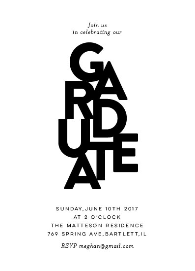 graduation announcements - Type Play by Nazia Hyder