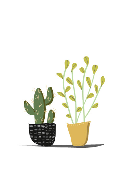 art prints - POTTED by Rushmi