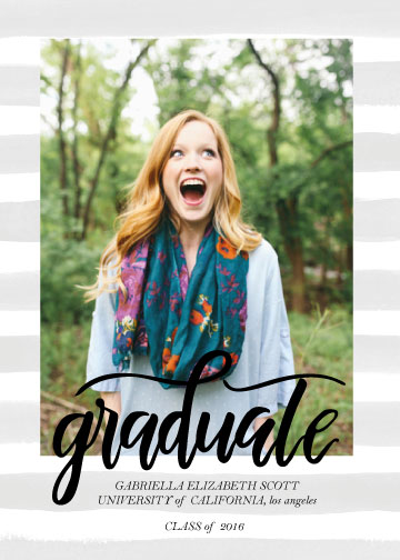 graduation announcements - Surprised Grad by Jessica Voong
