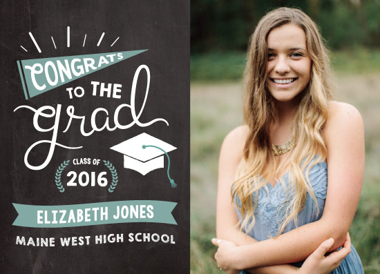 graduation announcements - Chalkboard Grad by wondErin wandErin