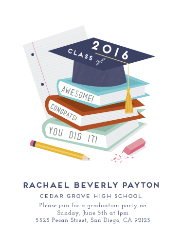 graduation announcements - Party Hat by Katie Zimpel