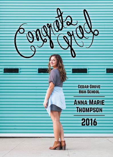 graduation announcements - Congrats Grad by Jenna Pennell