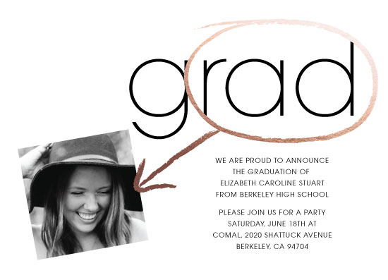 graduation announcements - g(rad) by Margot Piper