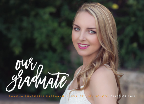 graduation announcements - Most Likely by Haley Warner