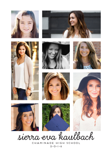 graduation announcements - Inspired Grid by mistyqe