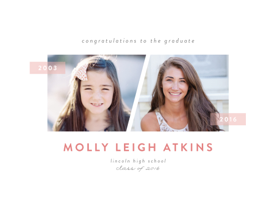 graduation announcements - Yesterday and Today by Sara Showalter