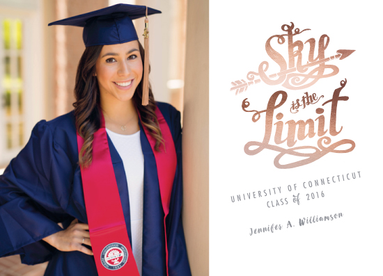 graduation announcements - Sky is the Limit by CaroleeXpressions
