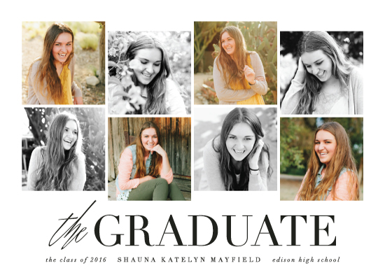 graduation announcements - Eight Up by Hooray Creative