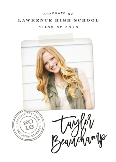 graduation announcements - Single Polaroid by Hooray Creative