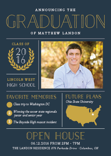 graduation announcements - Grad Grid by Sarah Brown