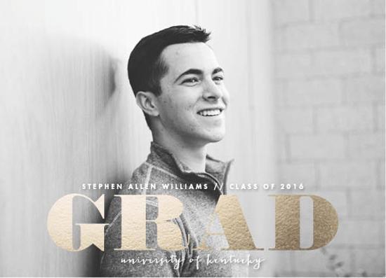 graduation announcements - foiled grad by Carolyn Nicks