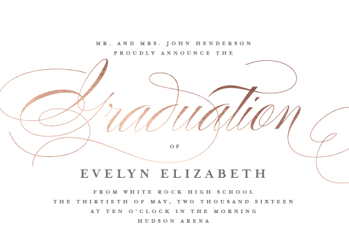 graduation announcements - Formal by Lauren Chism