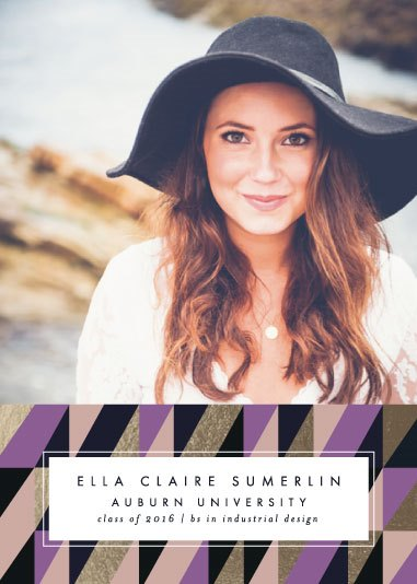 graduation announcements - Geometric Pattern by Ella Weaver