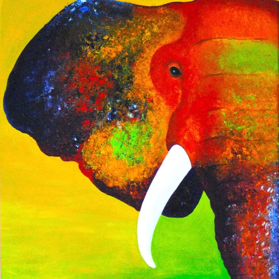 art prints - Elephant Abstract by Pranee Campbell