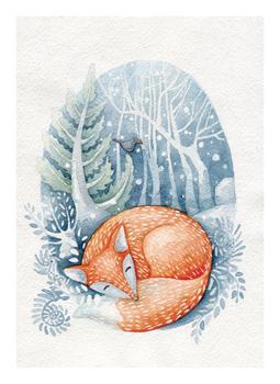 Sleeping on the snow