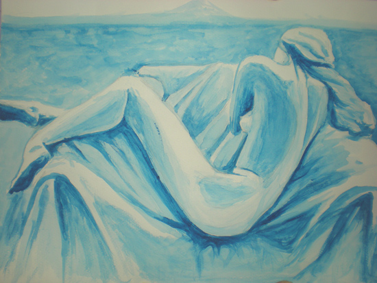 art prints - blue sadness by Tatyana Hanenko
