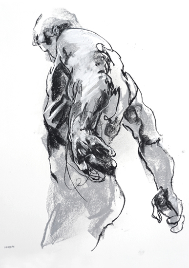 art prints - Drawing 369 - Standing Man by Derek overfield