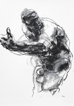 Drawing 393 - Pontificating Man