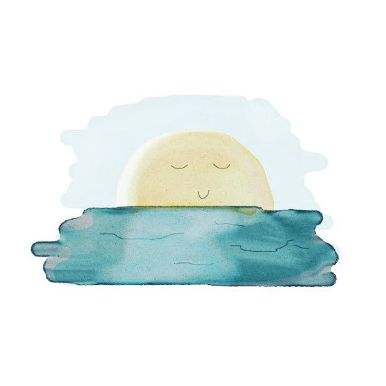 art prints - Goodnight, sun. by Miranda Ohrenberg