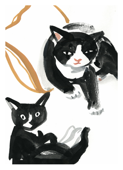 art prints - Molly Mabel and her Dad by Molly Mabel and Mitz