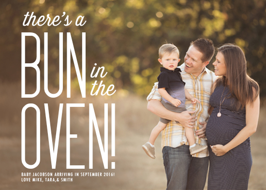 birth announcements - Bun in the Oven by Viper Paper Co.