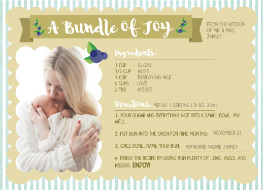 birth announcements - Bun Recipe by Laurie Beasley