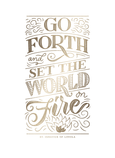 art prints - Set the World on Fire by Laura Bolter Design