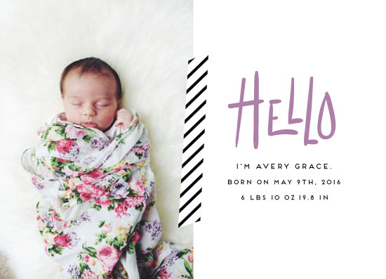 birth announcements - Hello Baby. by Miranda Ohrenberg