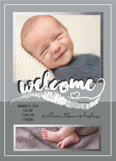 birth announcements - Welcome Scribbles by Ilidia Nicholas