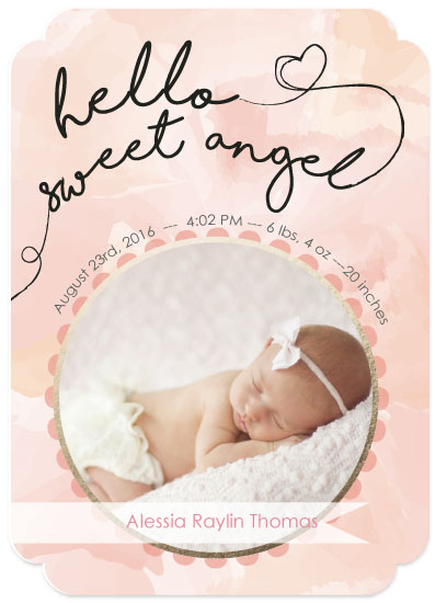 birth announcements - Sweet Angel Baby by Ilidia Nicholas