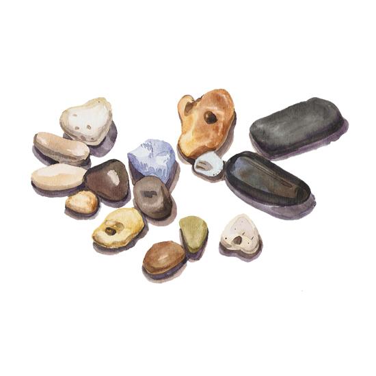 art prints - Watercolor stones by Nadiia Nemchenko