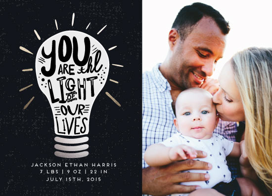 birth announcements - Our Light. by Miranda Ohrenberg