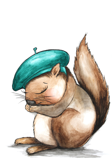 art prints - Monsieur Squirrel by Alicia Bazan
