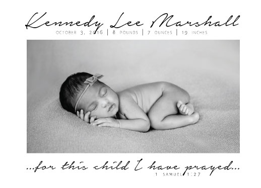 birth announcements - Answered Prayer by Kelly Clabaugh