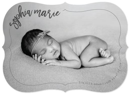 birth announcements - Curved Joy by Kelly Clabaugh