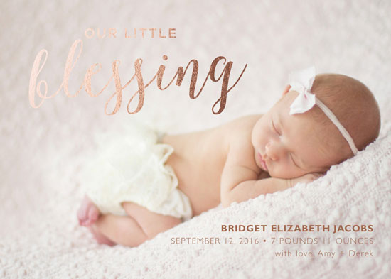 birth announcements - Our Little Blessing by Susannah Carpenter