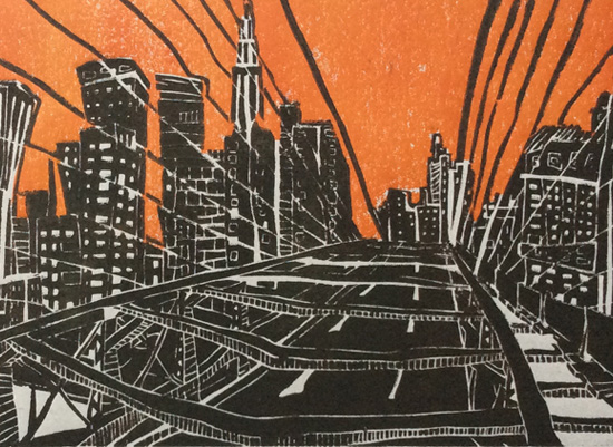 art prints - New York Bridge by Viktoria Eperjesi