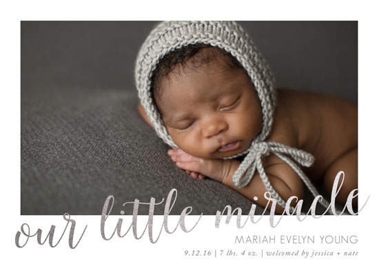 birth announcements - Our Little Miracle by Susannah Carpenter