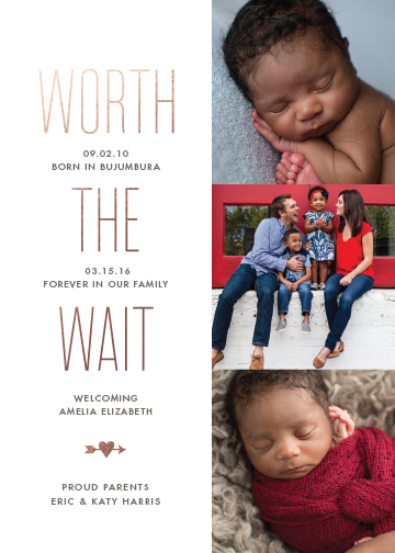 birth announcements - Worthwhile by Sarah Guse Brown